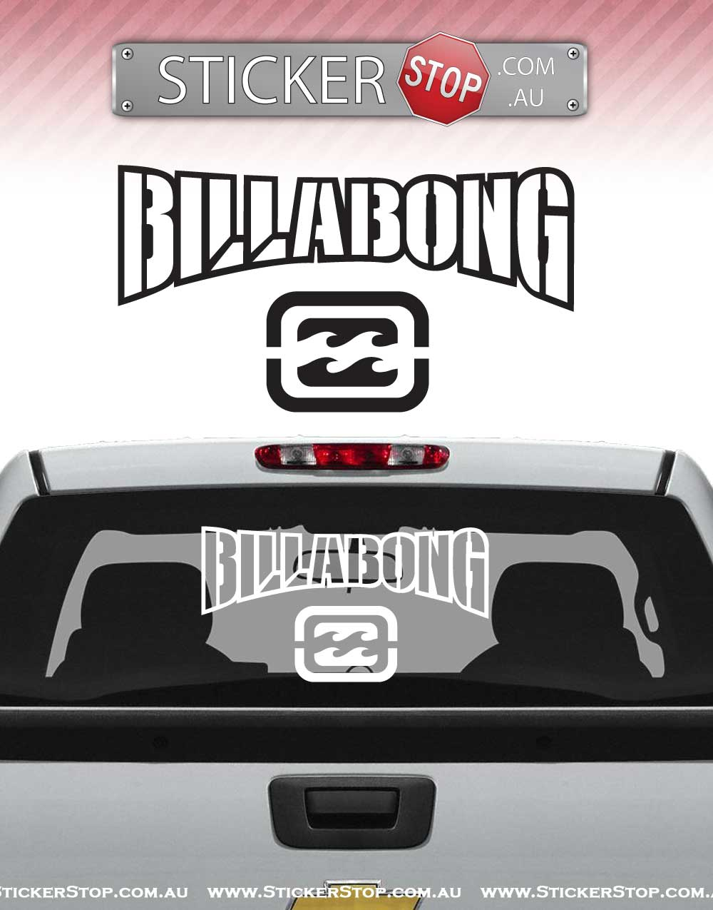 Billabong Vinyl Sticker Decal
