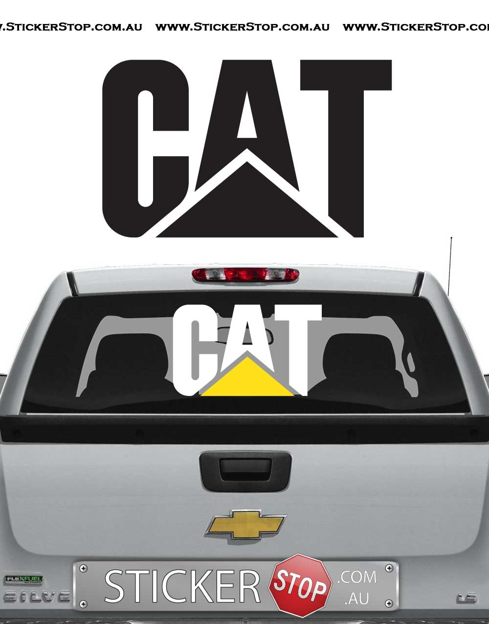 Stiker Caterpillar Custom Stickers