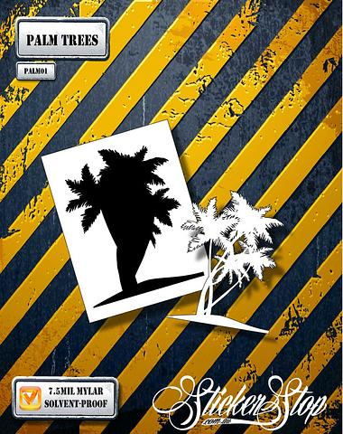 Palm Trees Airbrush Stencil