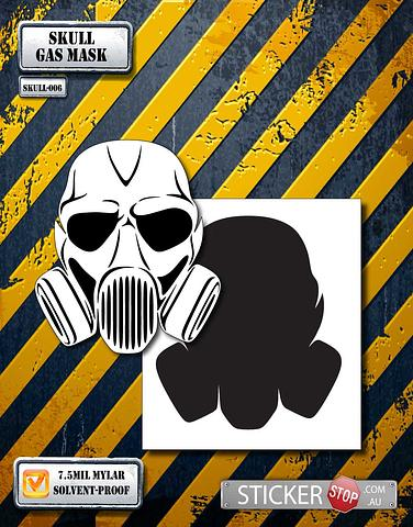 Skull (Gas/Spray Mask) Stencil