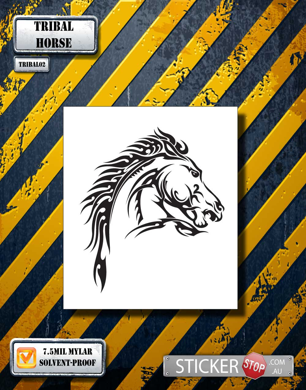 Tribal Horse Mylar Airbrush Craft Stencil