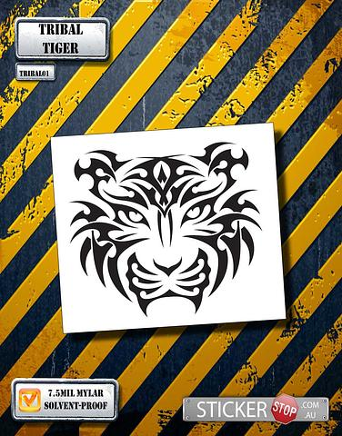Tribal Tiger Stencil