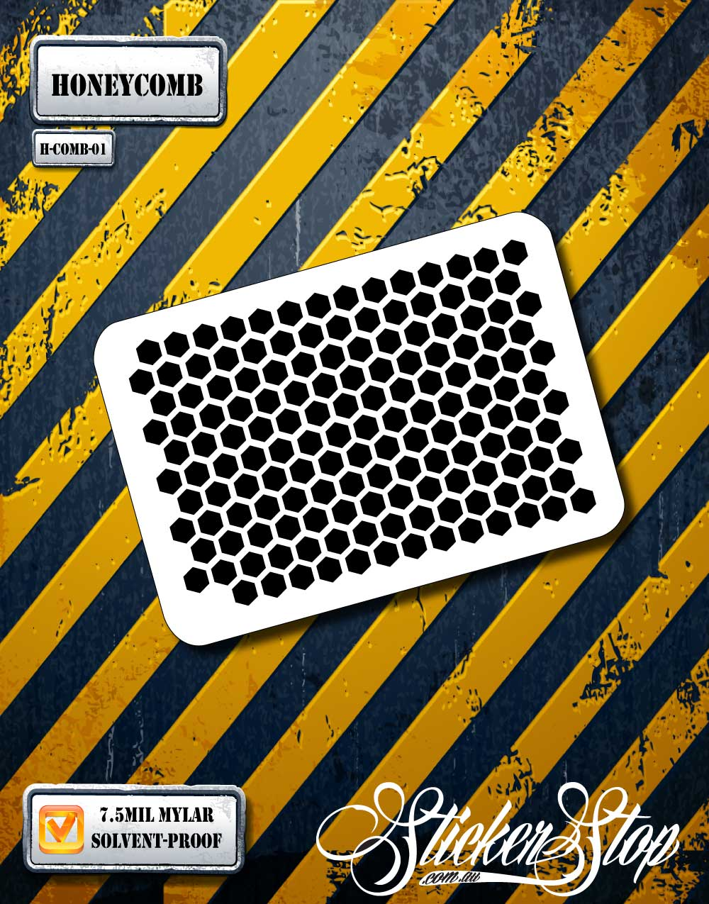 Honeycomb Airbrush Texture Stencil