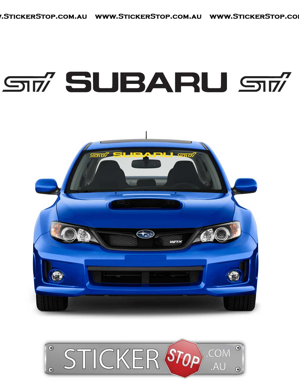 Subaru STI Logo Windscreen Vinyl Sticker Decal