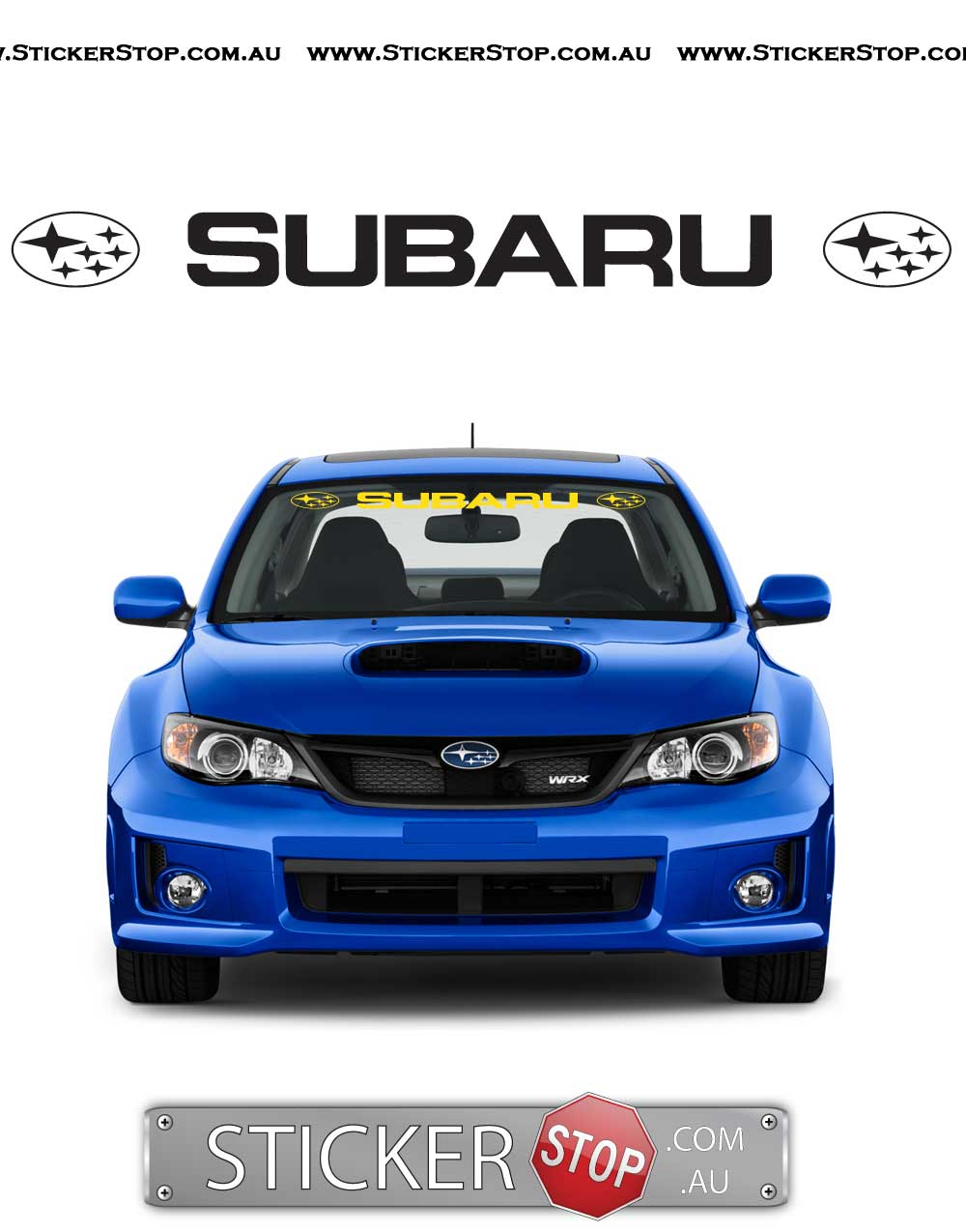 Subaru Logo Windscreen Vinyl Sticker Decal