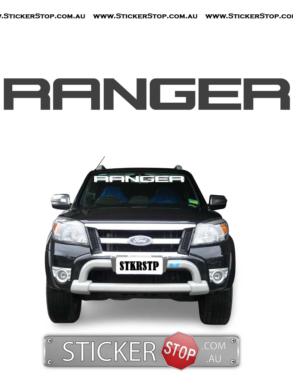 Ford Ranger Windshield Vinyl Sticker Decal