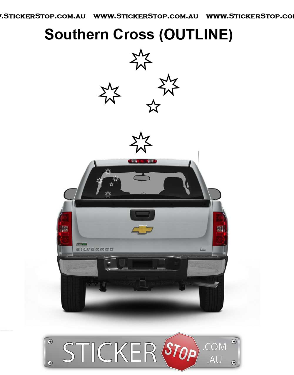 Southern Cross Stars Vinyl Sticker Decal