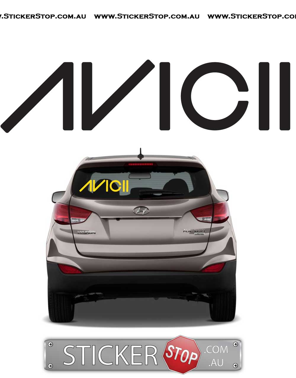 Avicii DJ Sticker Vinyl Decal