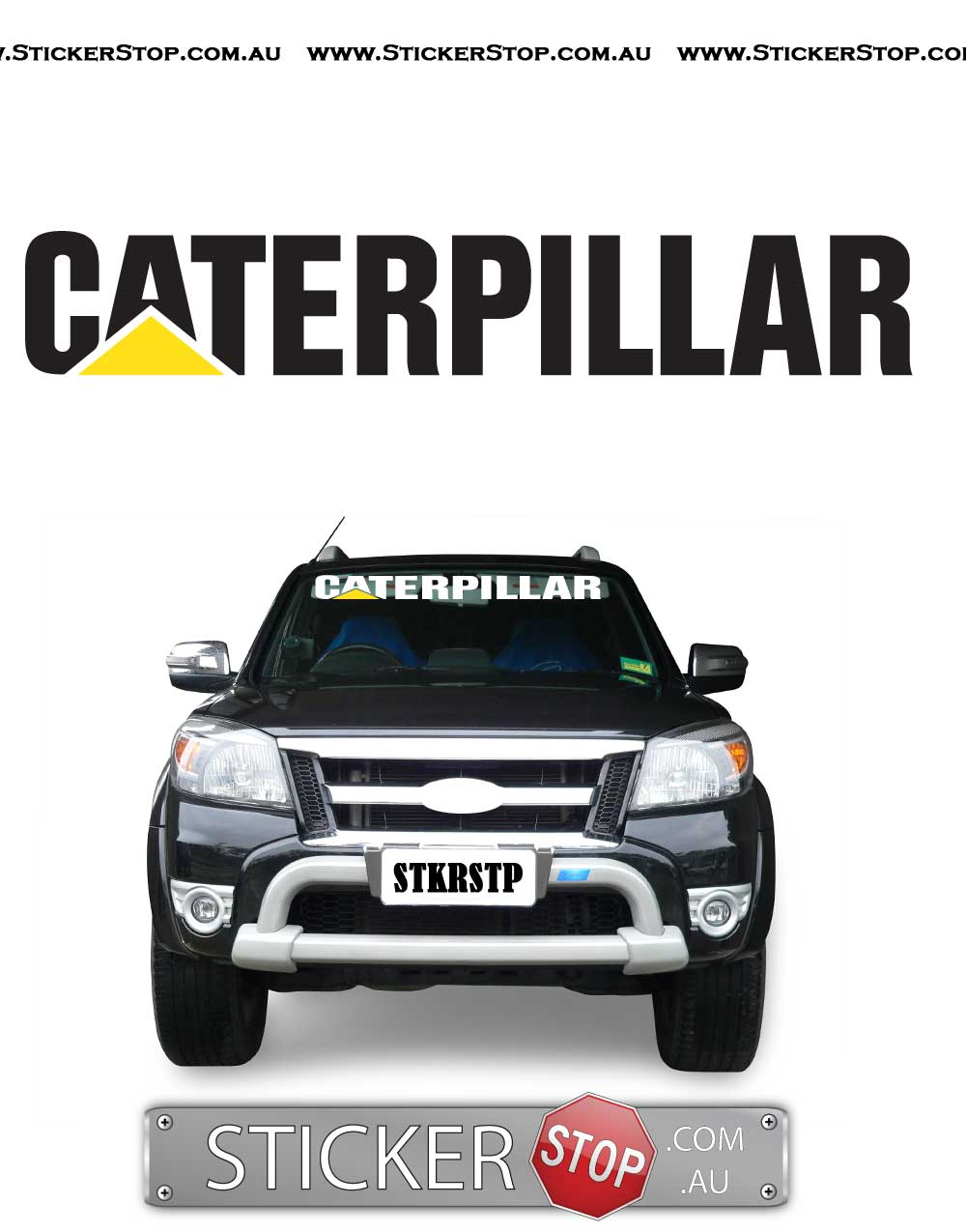 Caterpillar Sticker Decal