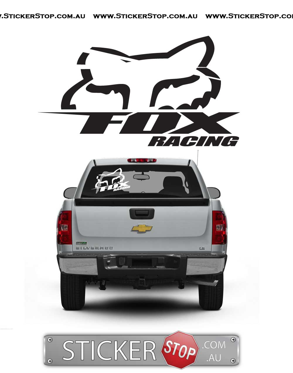 Fox Racing Sticker/Decal