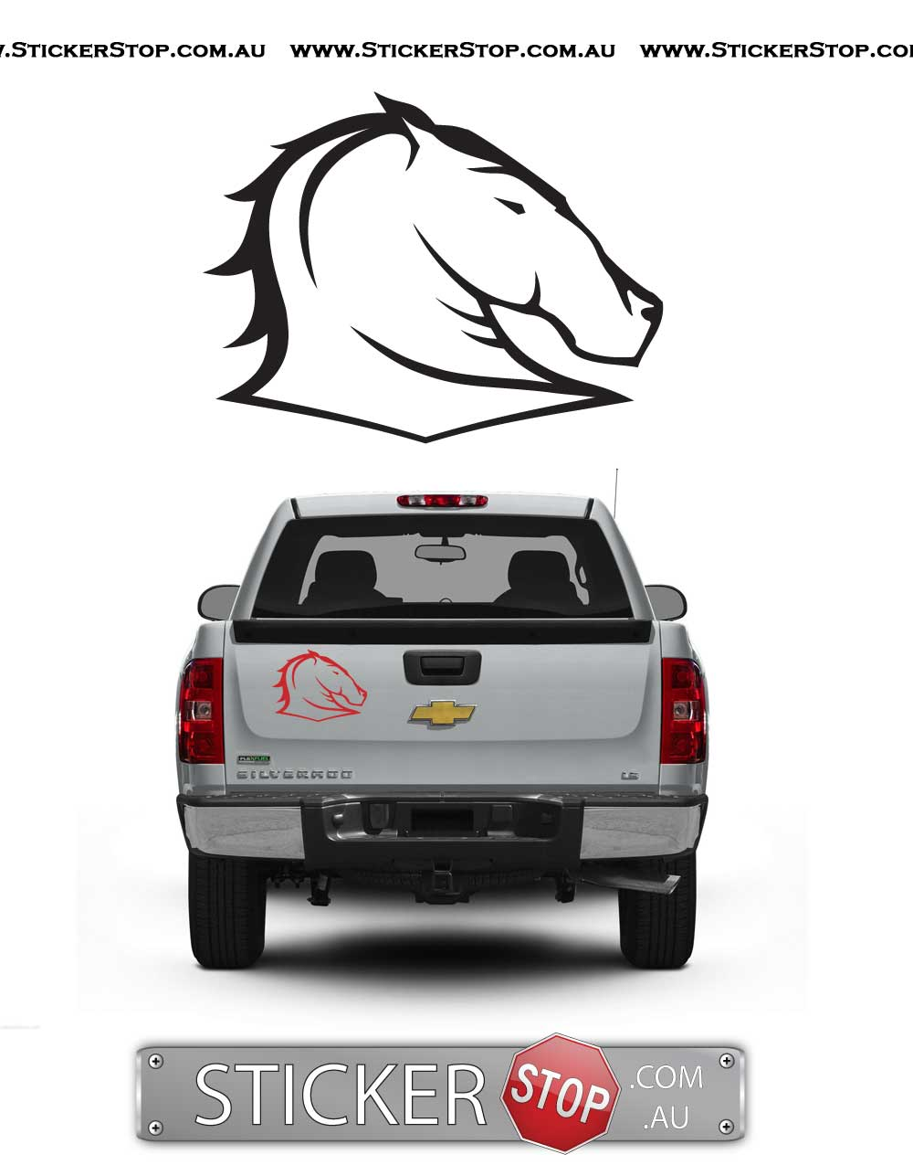 Brisbane Bronco Sticker