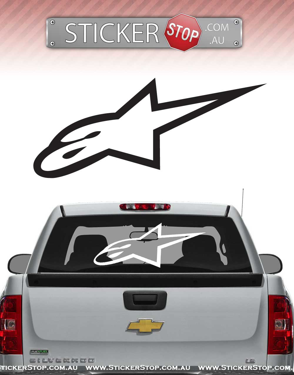 Alpinestars Open Logo Sticker