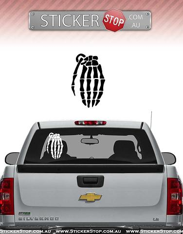 Grenade Gloves Bone Sticker