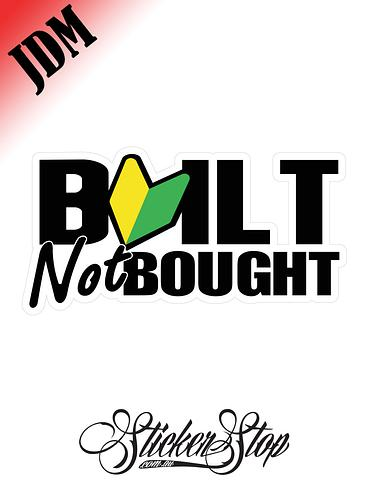 Built Not Bought JDM Leaf Sticker Decal