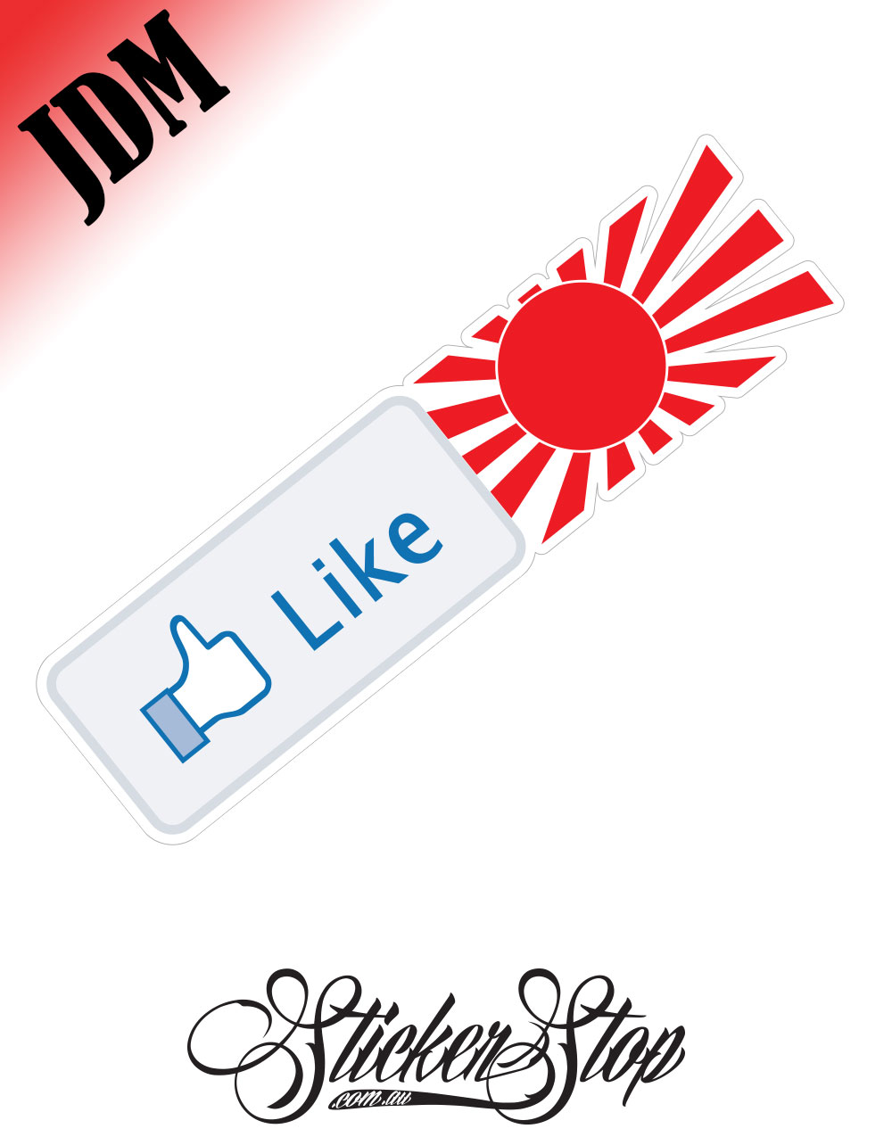 Facebook Like JDM Sticker Decal