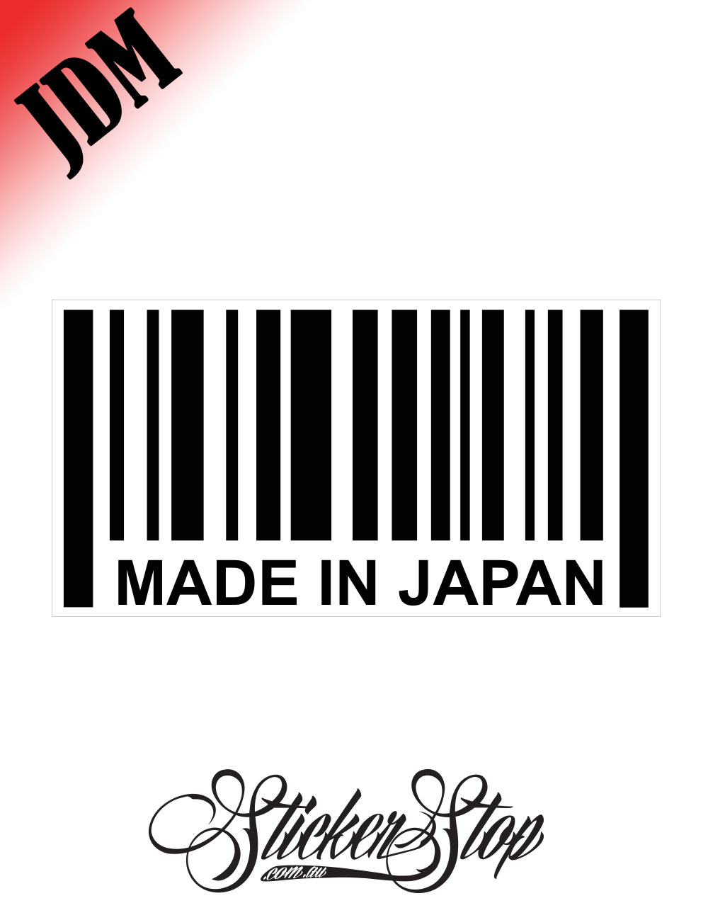 Made In Japan Barcode JDM Sticker Decal