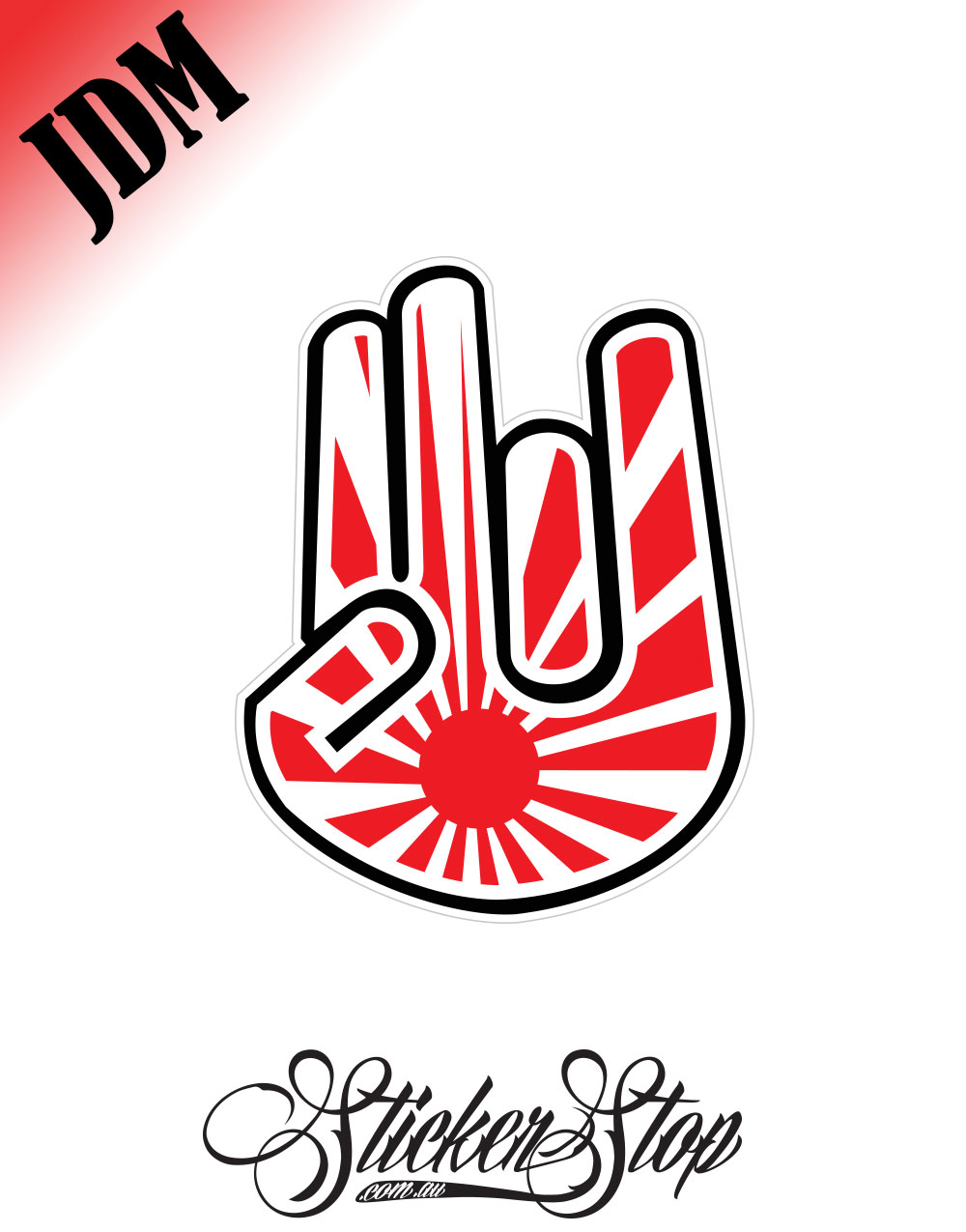 Rising Sun Shocker JDM Sticker Decal