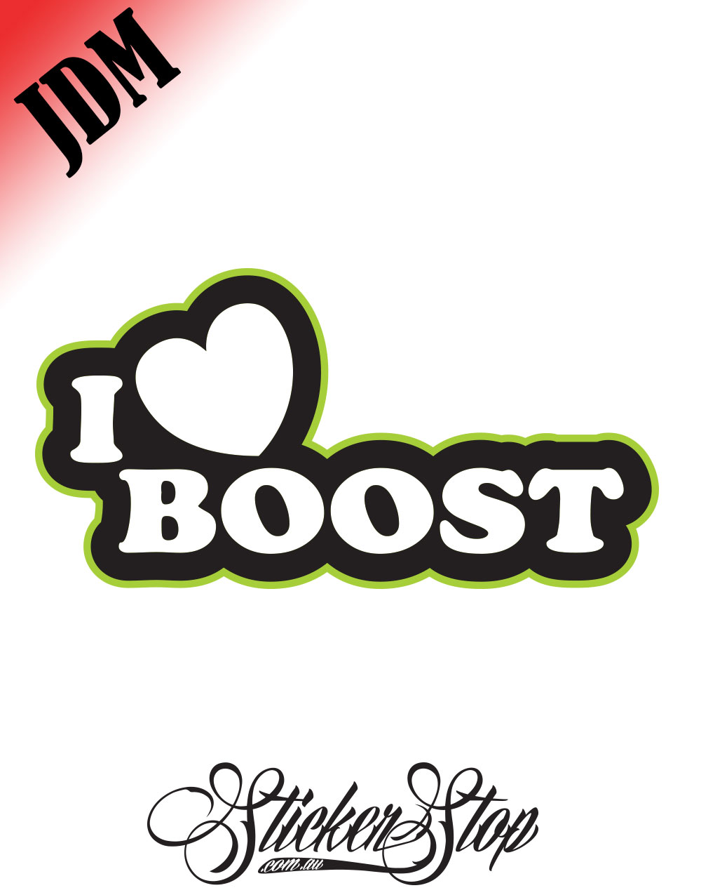 I Heart Boost JDM Sticker Decal
