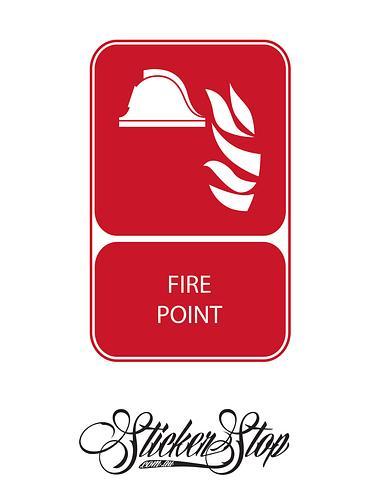 Fire Point Fire Sticker