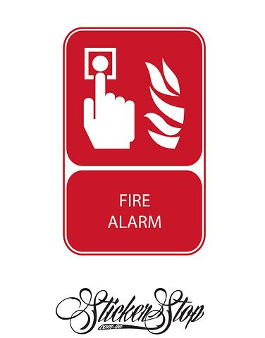Fire Alarm Fire Sticker