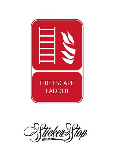 Escape Ladder Fire Sticker