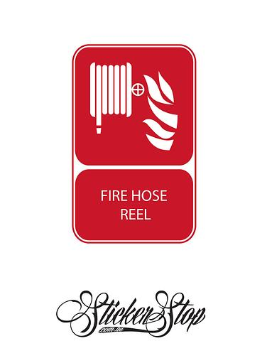 Hose Reel Fire Sticker