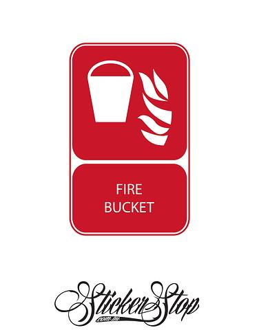 Fire Bucket Fire Sticker