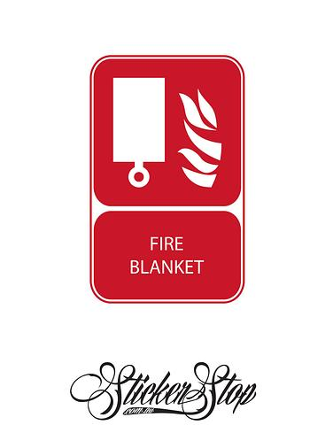 Fire Blanket Fire Sticker