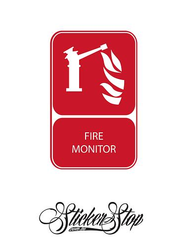 Fire Monitor Fire Sticker
