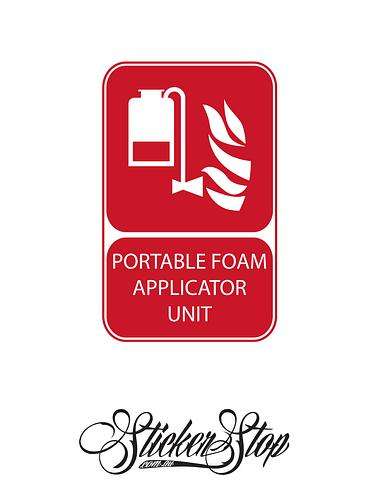 Portable Foam Applicator Unit Fire Sticker