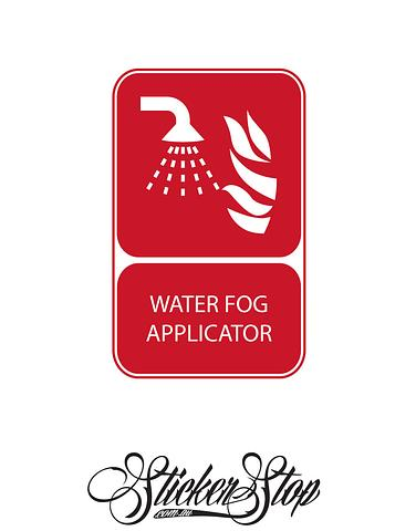 Water Fog Applicator Fire Sticker