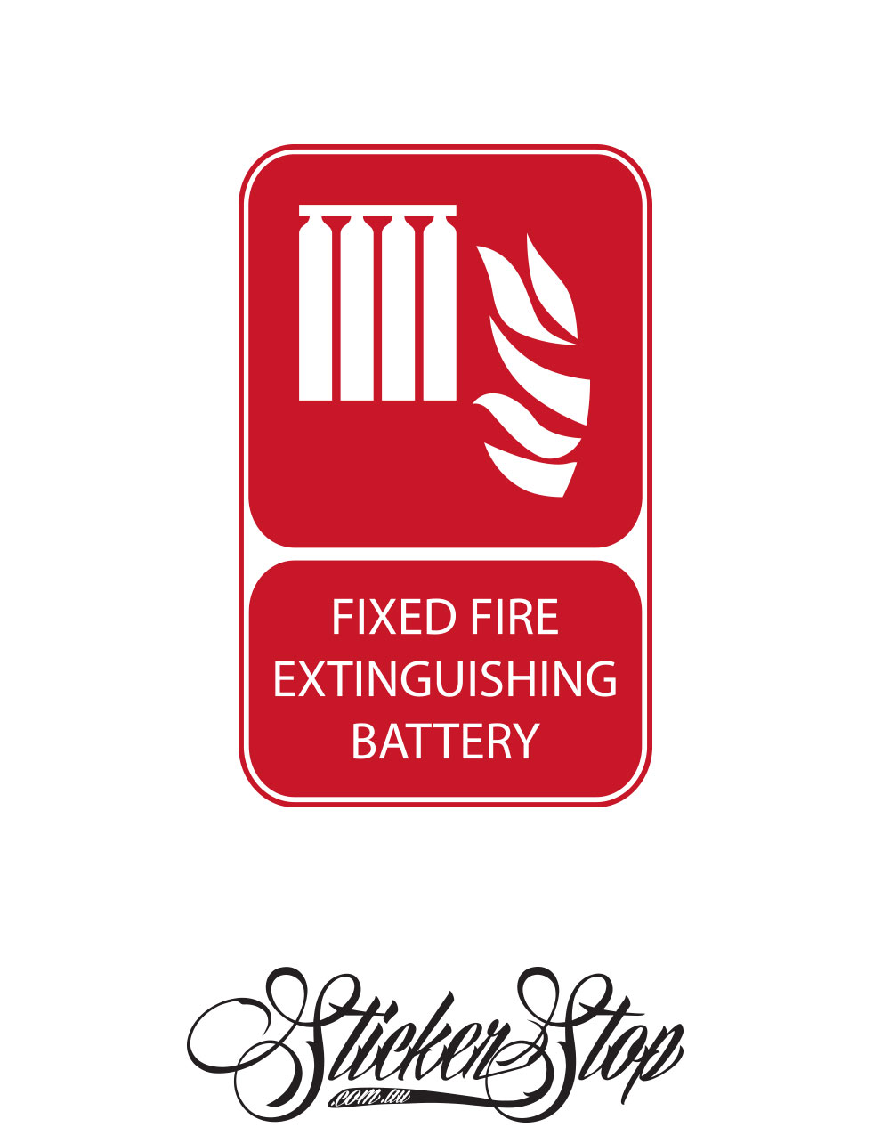 Fixed Fire Extinguishing Battery Fire Sticker