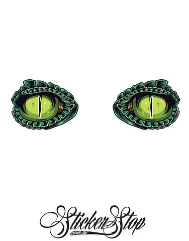 Lizard Eyes Colour Stickers