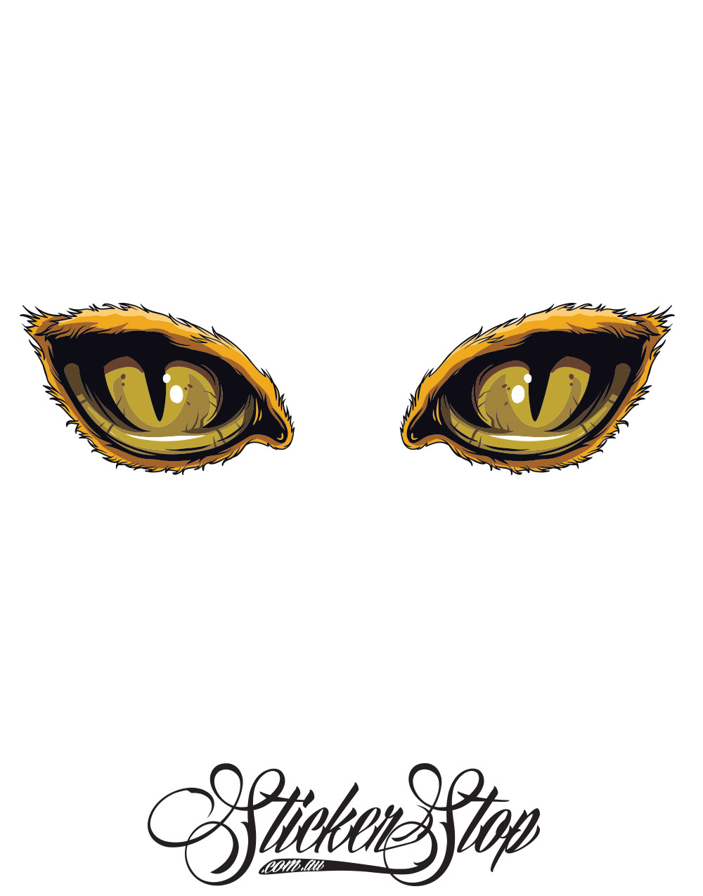 Cat Eyes Colour Stickers