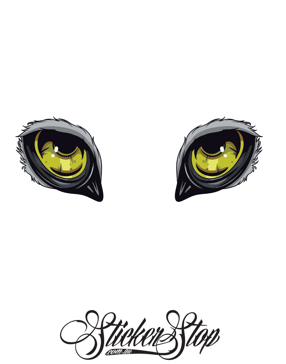 Animal Eyes Colour Stickers