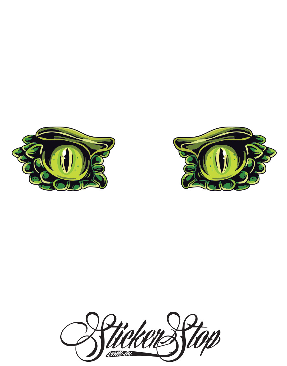 Lizardman Eyes Colour Stickers
