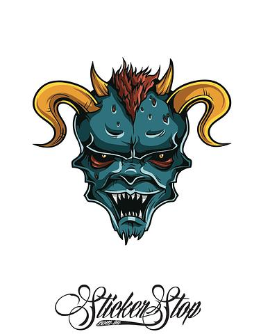 Devil Freak Colour Sticker