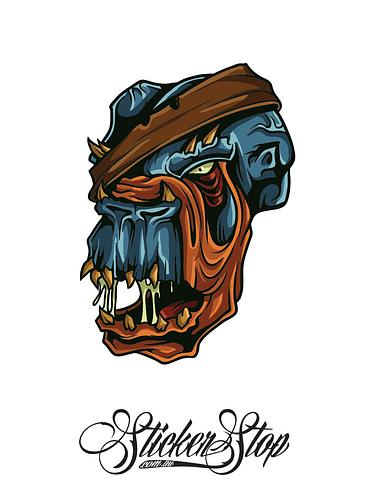 Skull Freak Colour Sticker