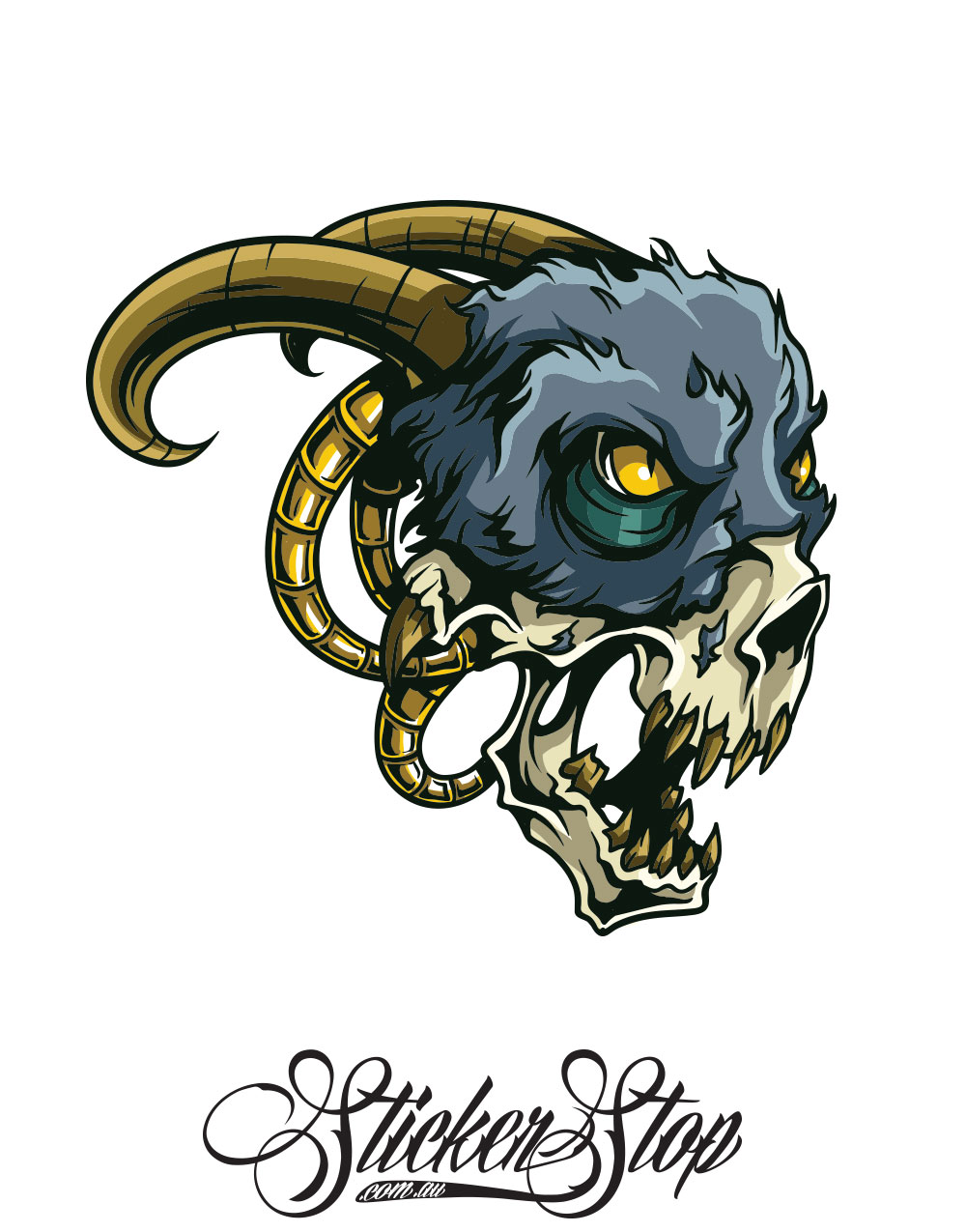 Goat Freak Colour Sticker