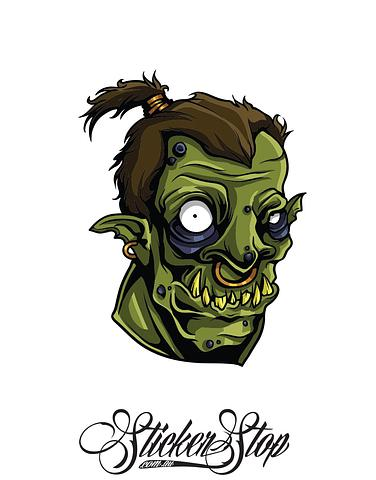 Ork Freak Colour Sticker
