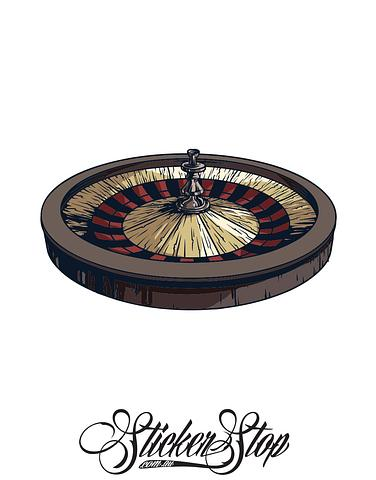 Roulette Wheel Gambling Colour Sticker