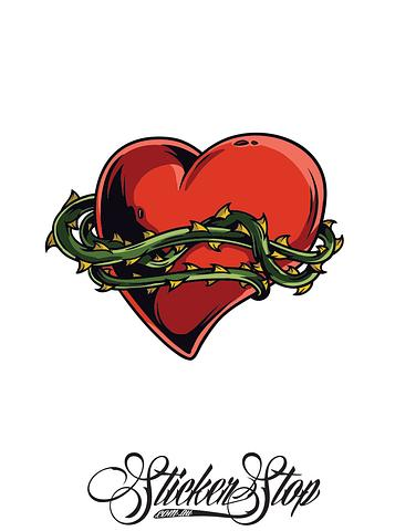 Thorny Vine Heart Colour Sticker
