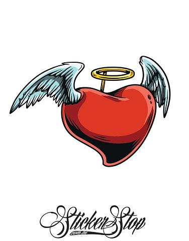 Angel Heart Colour Sticker