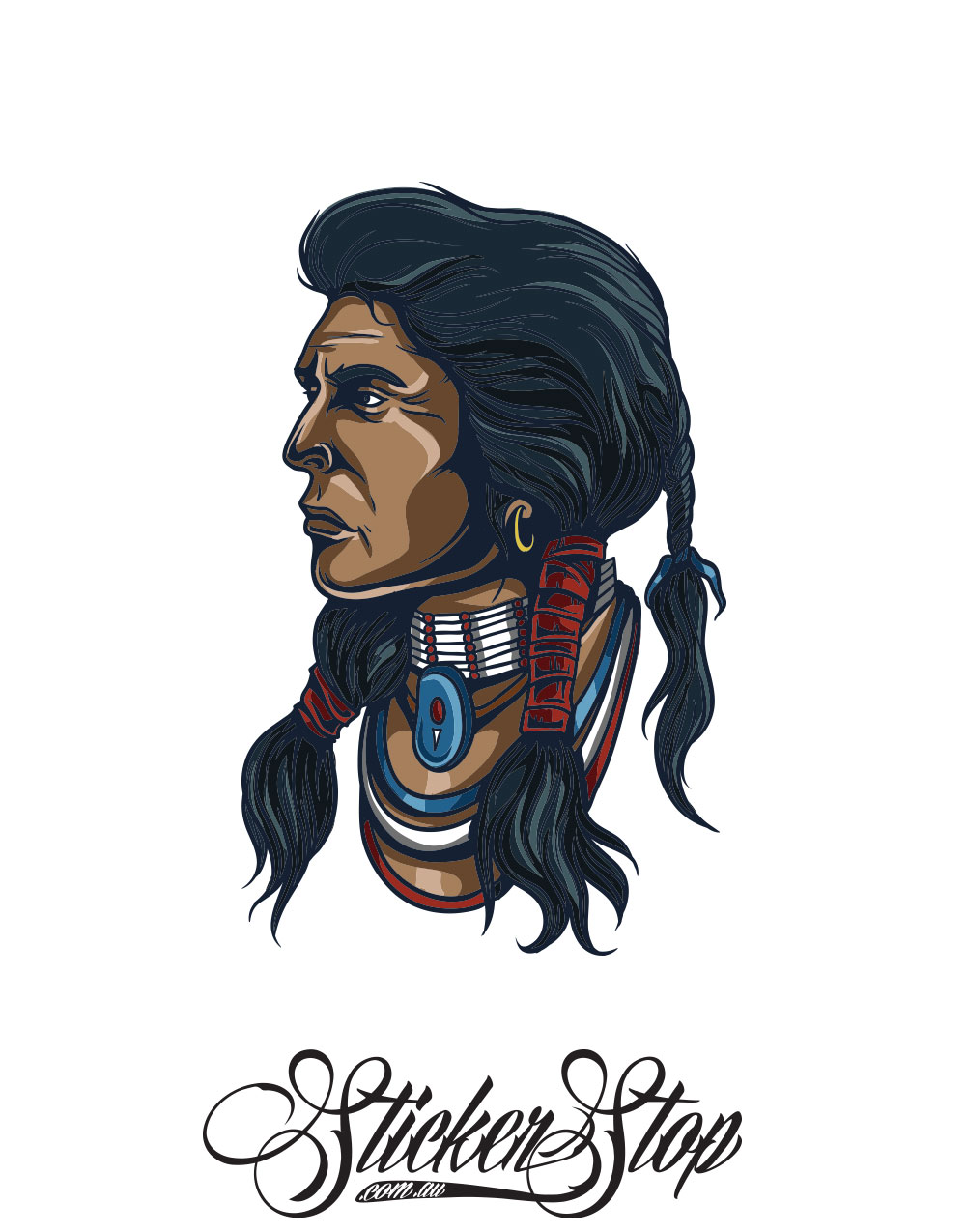 Native American Colour Sticker