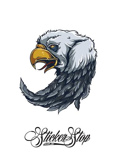 Eagle Native American Colour Sticker