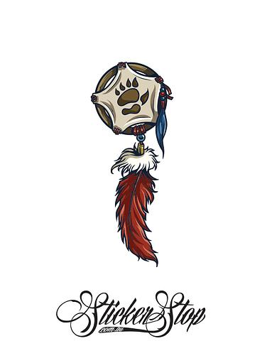 Symbol Native American Colour Sticker