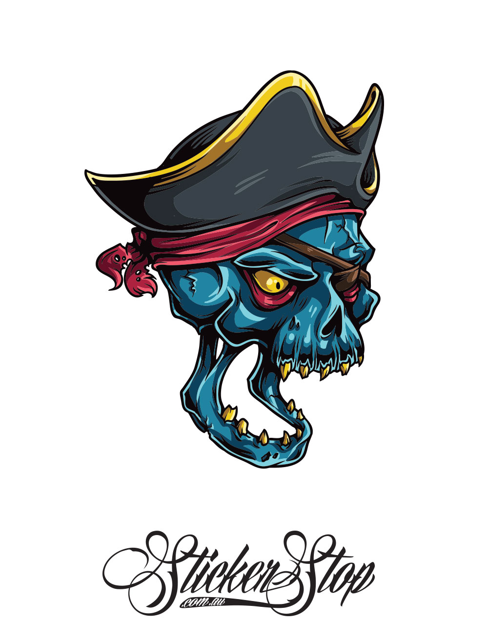 Pirate Captain Colour Sticker