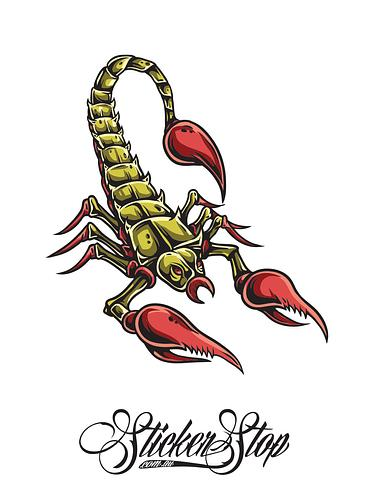 Scorpion Colour Sticker