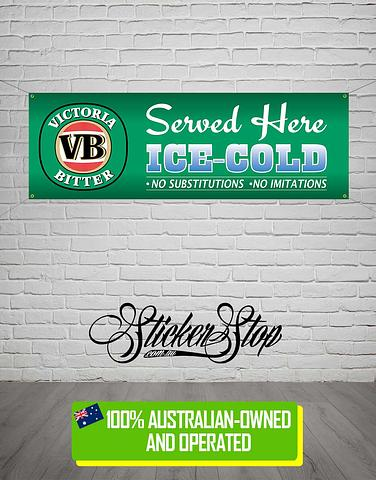 VB (Victoria Bitter) Banner for Mancave, Garage, Shed or Workshop
