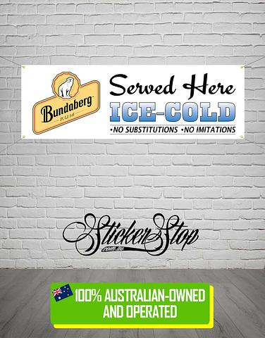 Bundaberg Rum Banner for Mancave, Garage, Shed or Workshop